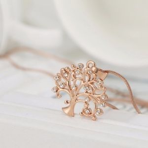 🌳Rose Gold Tree of Life Necklace